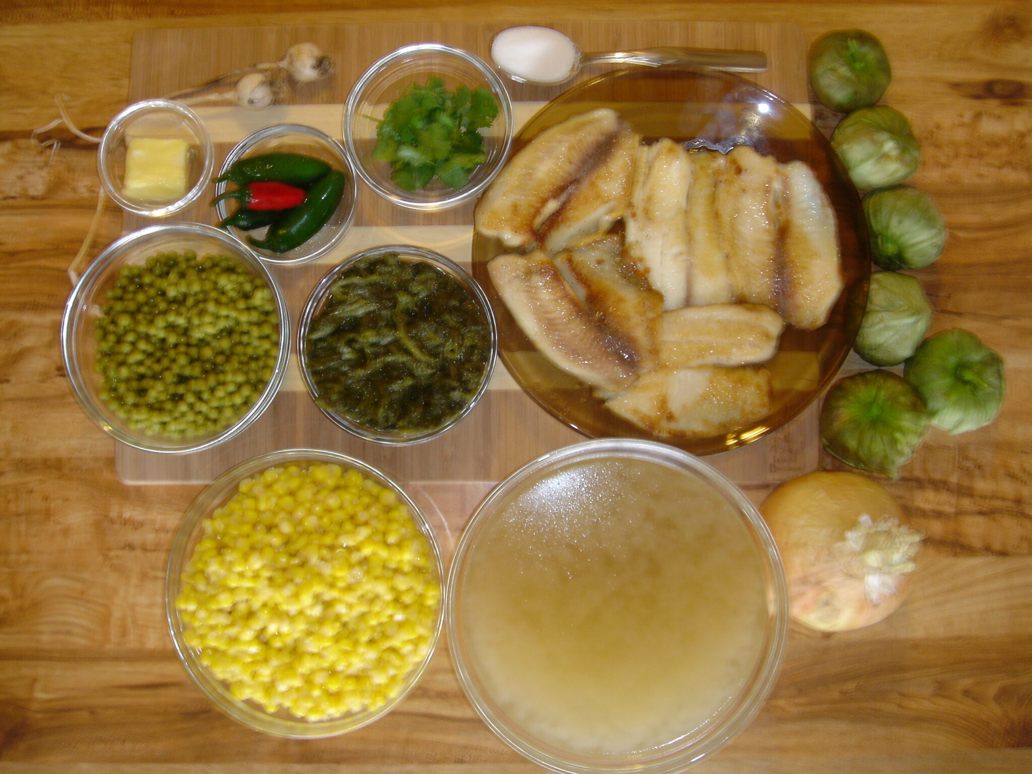 Tomatillo and Tilapia Soup - Ingredients